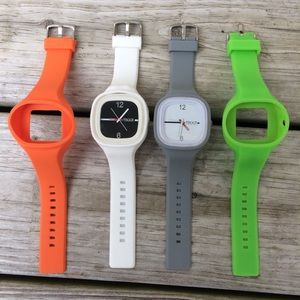 Tikkr Interchangeable Analog Silicon Watches